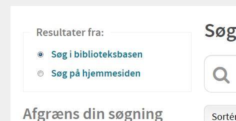 Søgning på hjemmesiden