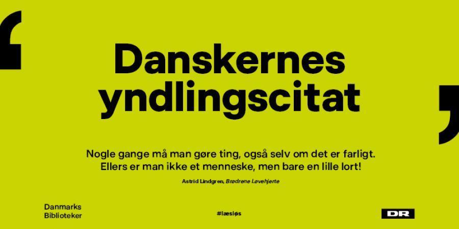 Danskernes yndlingscitat foto