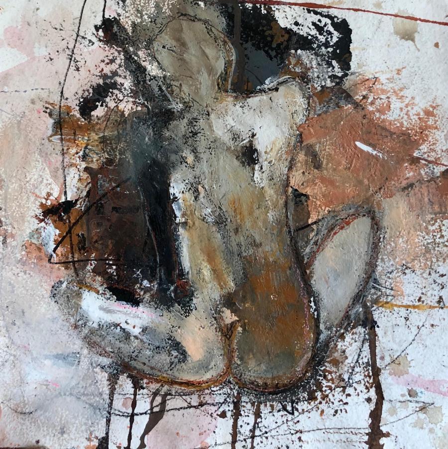 Maleri af kvinde set fra ryggen