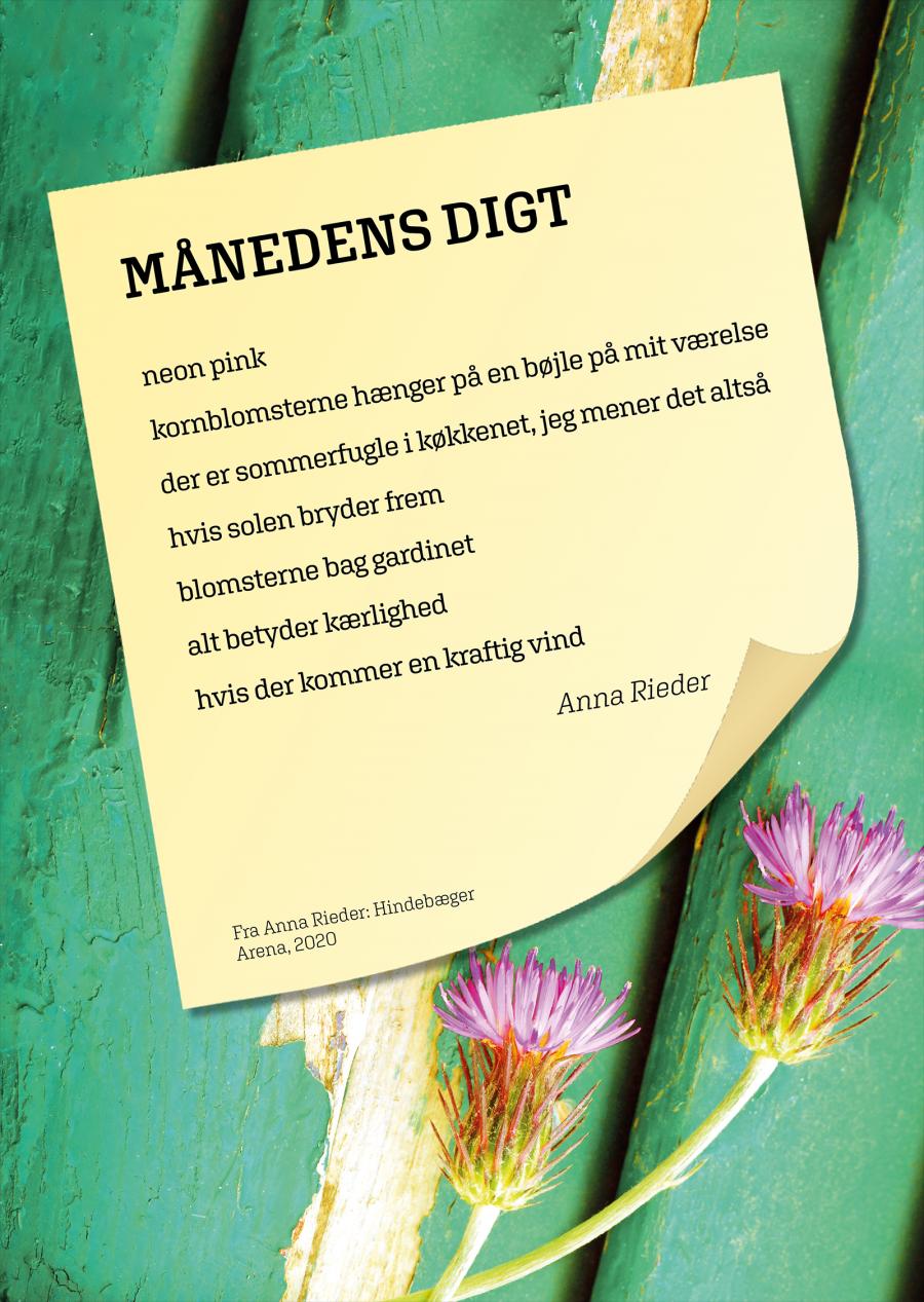 Plakat med oktober måneds digt